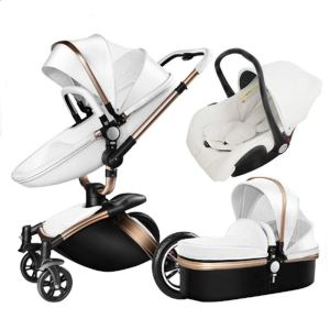 CHARMPOSH:Littlefairy Baby Carriage,High-View Baby Stroller Leather