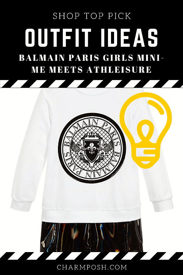 Outfit Ideas Balmain Paris Girls Mini-Me Meets Athleisure CharmPosh 3