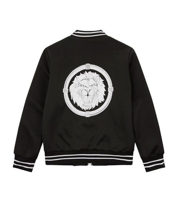 Balmain Kids Spring Summer 2019 Logo Bomber Jacket back side CharmPosh