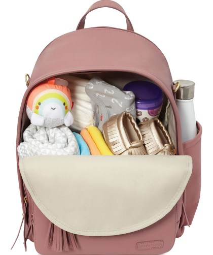 Dusty Rose Greenwich Simply Chic Diaper Backpack by Skip Hop CharmPosh 2