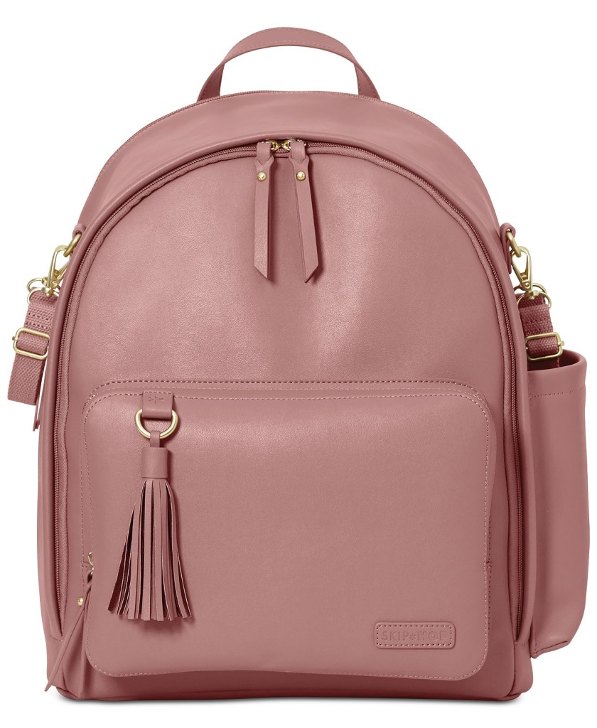 Dusty Rose Greenwich Simply Chic Diaper Backpack by Skip Hop  CharmPosh