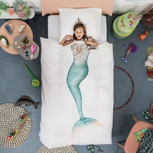 So Pretty Mermaid Duvet With Pillowcase Set by Peggy van Neer and Erik van Loo CharmPosh