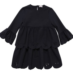 IL GUFO Girls Navy Dress Lycra Cutout CharmPosh main 1