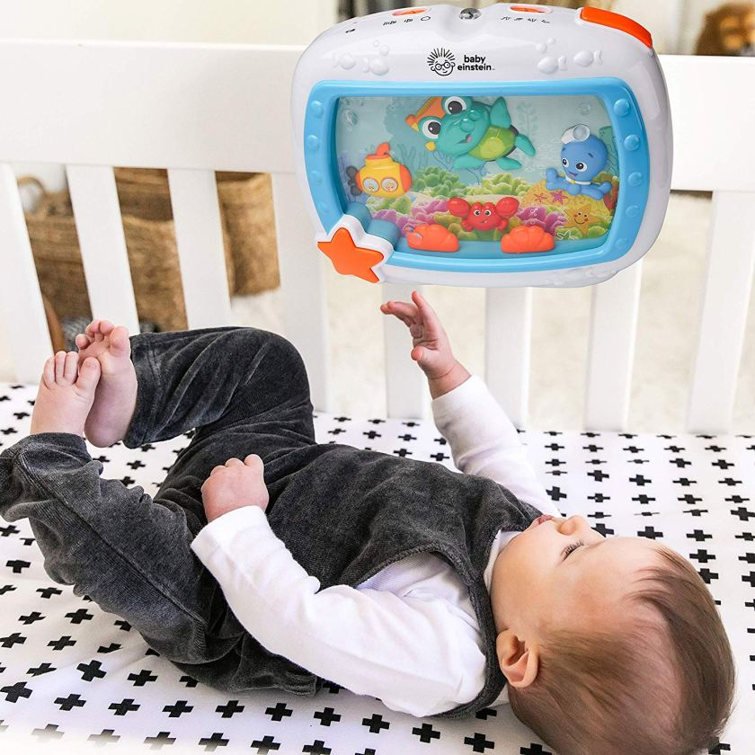 Baby-Einstein-Sea-Dreams-Soother-Musical-Crib-Toy-and-Sound-Machine-CharmPosh
