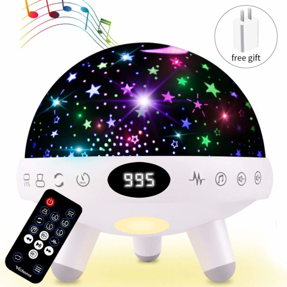 Night-Light-for-Kids-Star-Projector-with-Music-White-Noise-Sound-Machine-CharmPosh