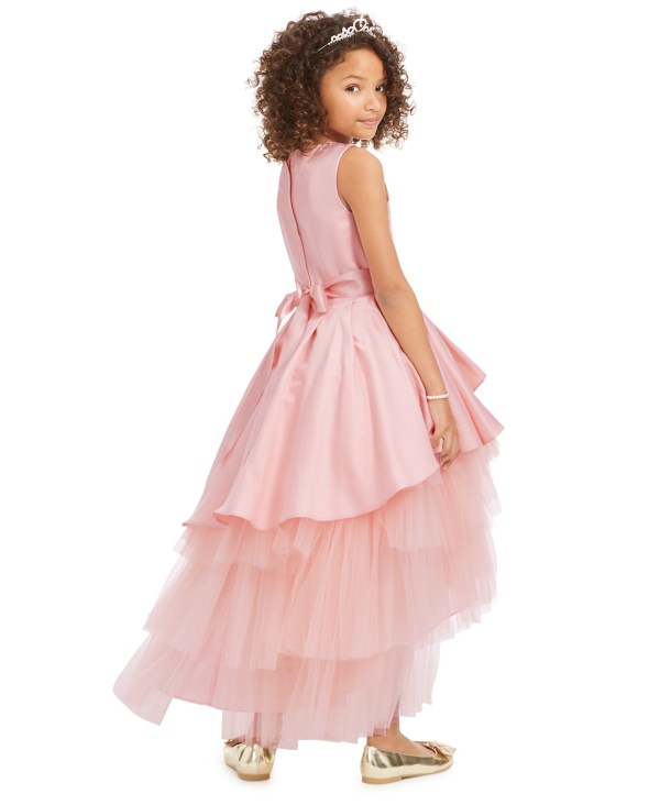 Big Girls Satin & Tulle Embellished Gown by Rare Editions CharmPosh 2
