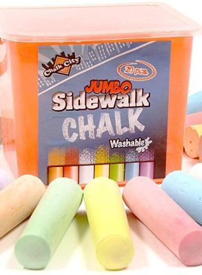Regal Games Chalk City (20 Piece Jumbo Washable Sidewalk Chalk) CharmPosh