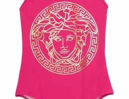 VERSACE-Hot-Fuchsia-Pink-Girls-One-Piece-Swimsuit-CharmPosh