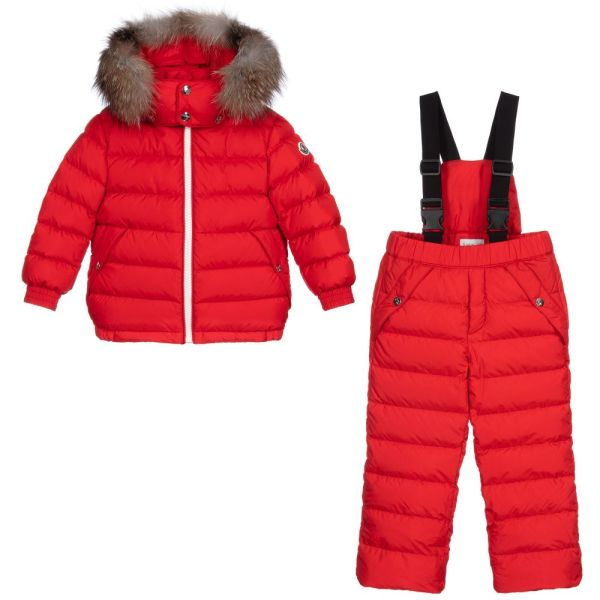 nt Red Down Padded Snowsuit CharmPosh