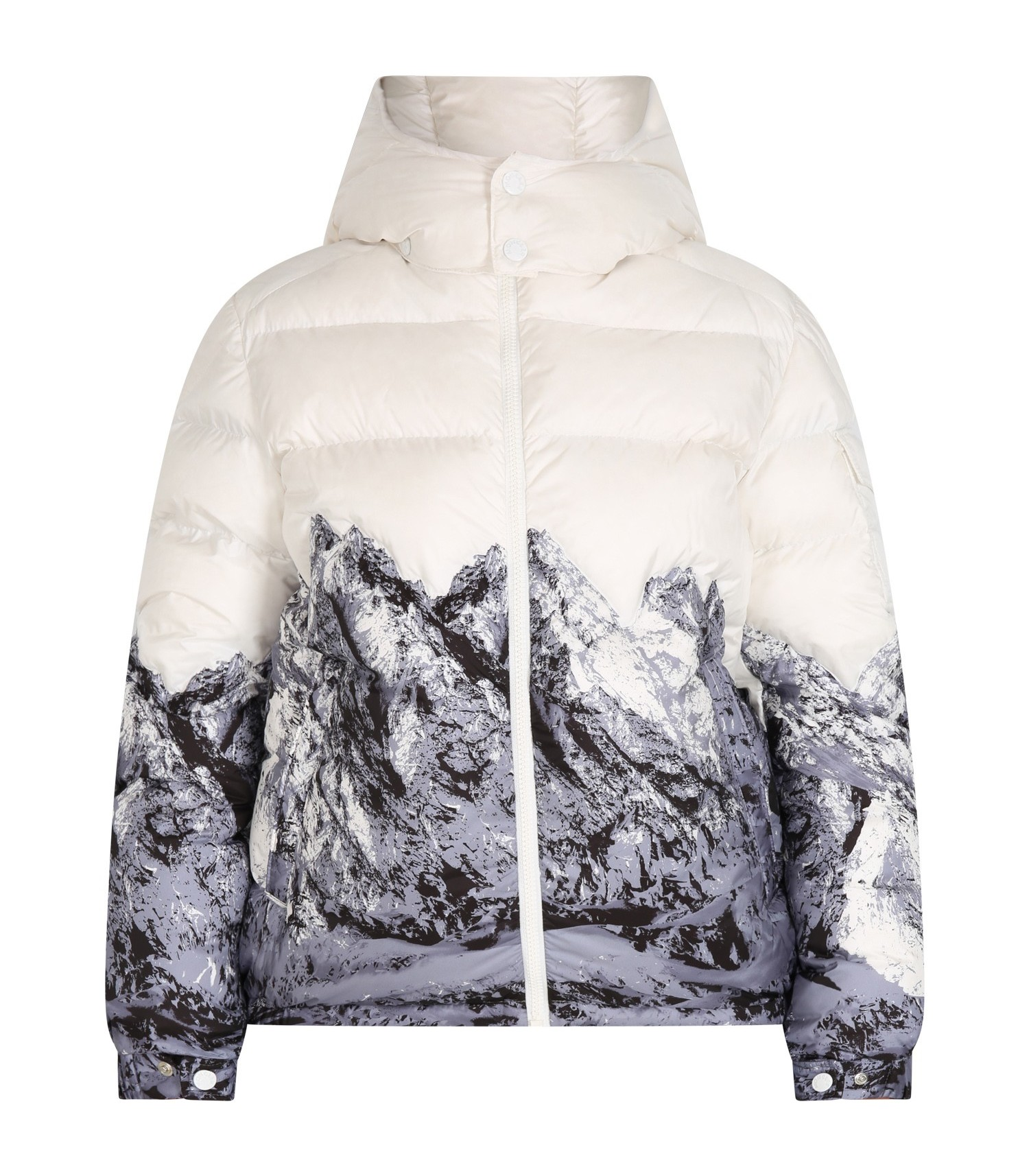 Moncler Boys White Vento Jacket Down Nylon CharmPosh