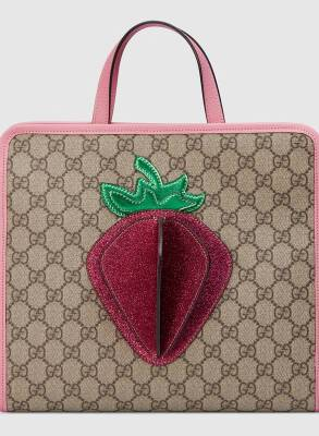 Gucci Kids Girls Strawberry Tote CharmPosh