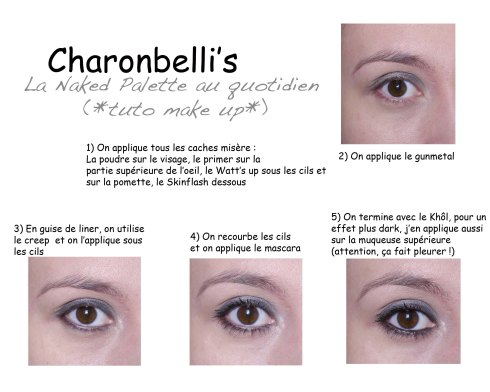 Ma Naked palette au quotidien (tuto make up) - Charonbelli's blog beauté