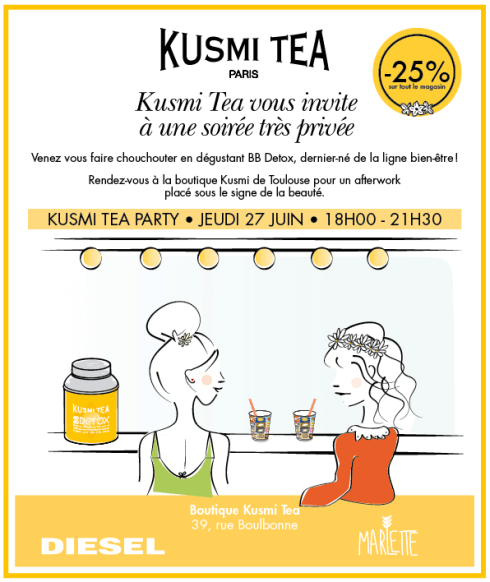 Kusmi Tea Party Toulouse - Charonbelli's blog mode et beauté