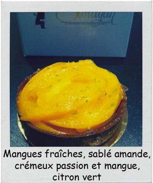 Sandyan Toulouse Mangues fraîches, sablé amande, crémeux passion et mangue, citron vert par Yannick Delpech - Charonbelli's blog de cuisine