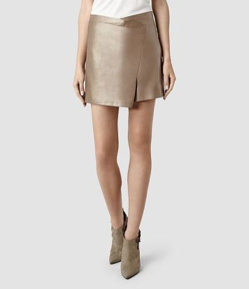 Ramona leather skirt All Saints - Charonbelli's blog mode
