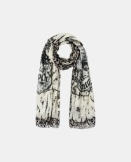 Black is black leo print scarf - Charonbelli's blog mode