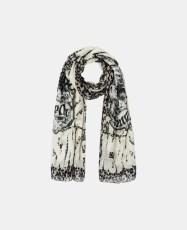 Black is black leo print scarf - Charonbelli's blog mode