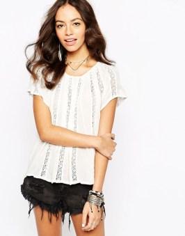 Top à dentelle New Look - sélection shopping spéciale festival - Charonbelli's blog mode