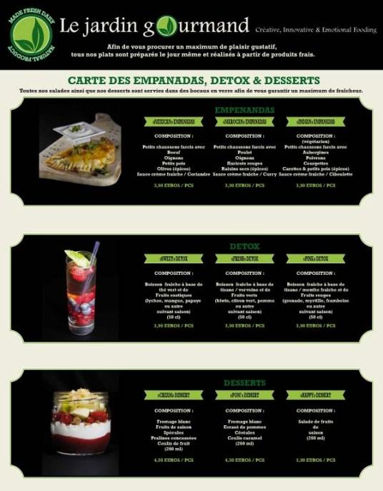 Le Jardin Gourmand - le test ! Carte - Charonbelli's blog lifestyle Toulouse