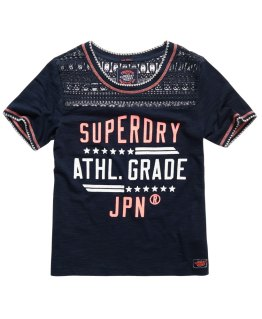 T shirt crafted lace Superdry - Back to school - Charonbelli's blog mode