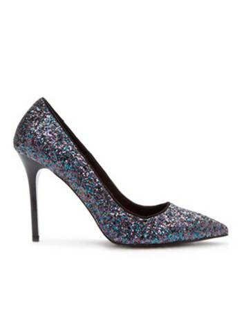 Chaussures a paillettes bleues Forever 21 - Charonbelli's blog mode
