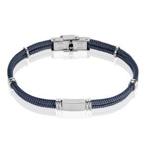 Bracelet-acier-plaque-acier-coton-Histoire-d-or-Charonbellis