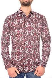 Barbons trendy slim fit heren overhemd met funky dessin, B317 Bordeaux