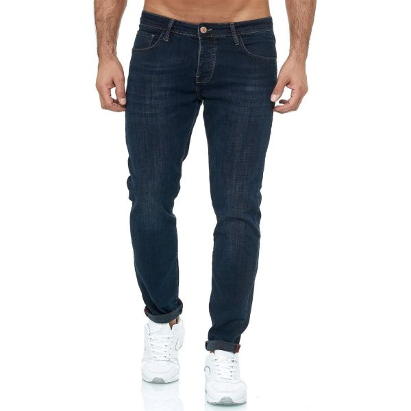 Red Bridge trendy gewassen slim fit heren stretch jeans, R249 Donkerblauw
