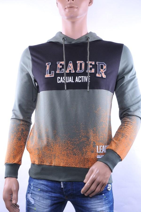 Ci-Borg trendy heren sweatshirt met capuchon, C761 Khaki
