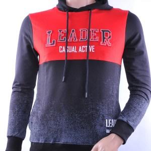 Ci-Borg trendy heren sweatshirt met capuchon, C761 Rood