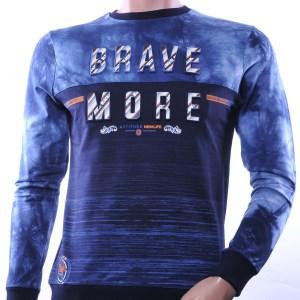 CLUB JU trendy ronde hals heren sweatshirt met 3D letters, C751 Navy