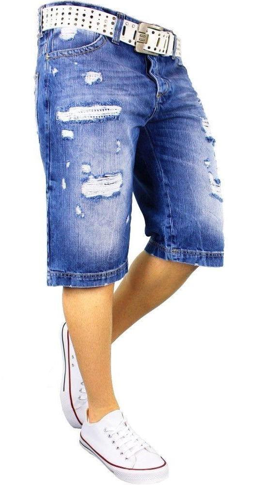 Red Bridge exclusieve gescheurde korten spijkerbroek, R150 Blauw