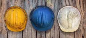 builders' hard hats