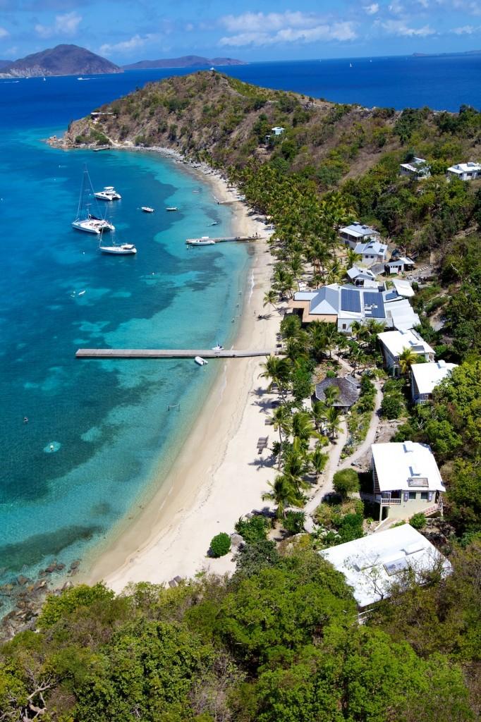 Cooper Island aerial shot