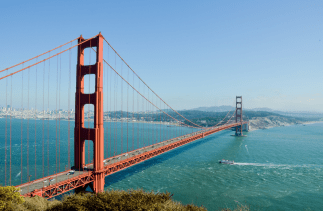 San Fransisco's most infamous attraction, The Golden Gate Bridge.