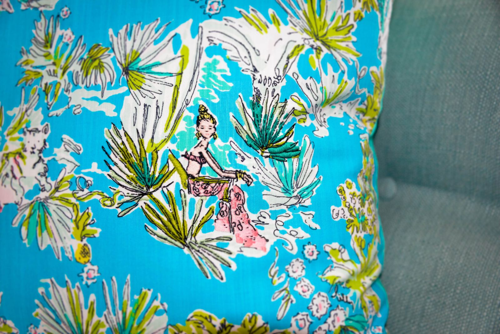Lilly Pulitzer Jungle Glam Pillow