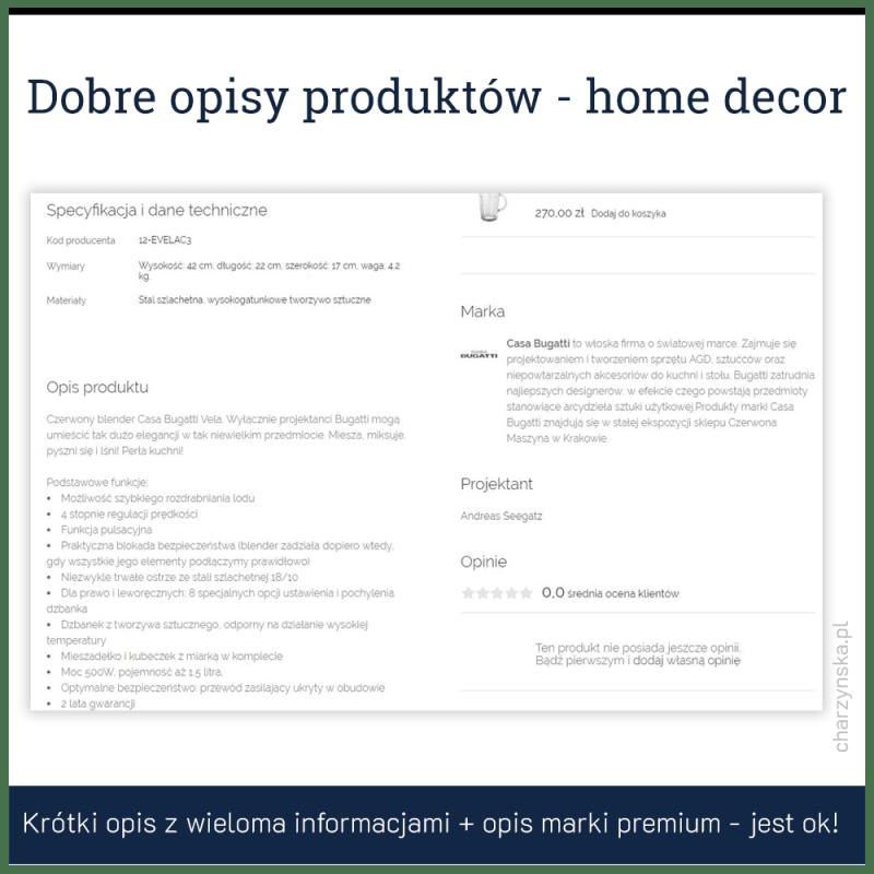 jak pisać opisy produktów - przykład 6