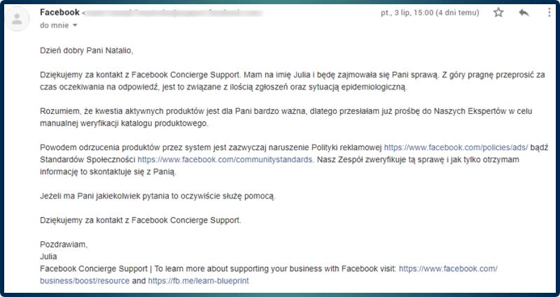 support facebook kontakt