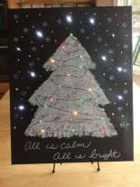 Christmas Light Up Canvas Art – Hometalk Live DIY!