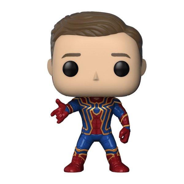 Funko Pop van Iron Spider (unmasked) uit Avengers 305 Unboxed