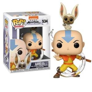 Funko Pop van Aang with Momo uit Avatar The Last Airbender 534