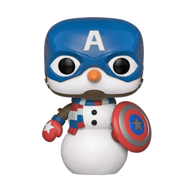 Funko Pop van Cap Snowman van Marvel Captain America 532 Unboxed