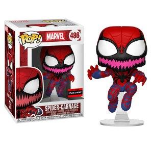 Funko Pop van Spider-Carnage uit Spider-Man Marvel AAA Anime Exclusive 486