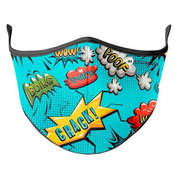 Gezichtsmasker Comic Smack Crack Facemask