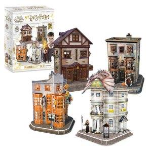 3D Puzzel van Diagon Alley Set uit Harry Potter