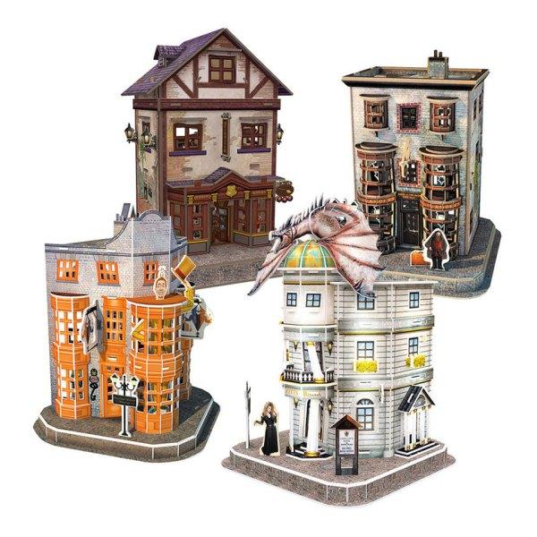 3D Puzzel van Diagon Alley Set uit Harry Potter Unboxed