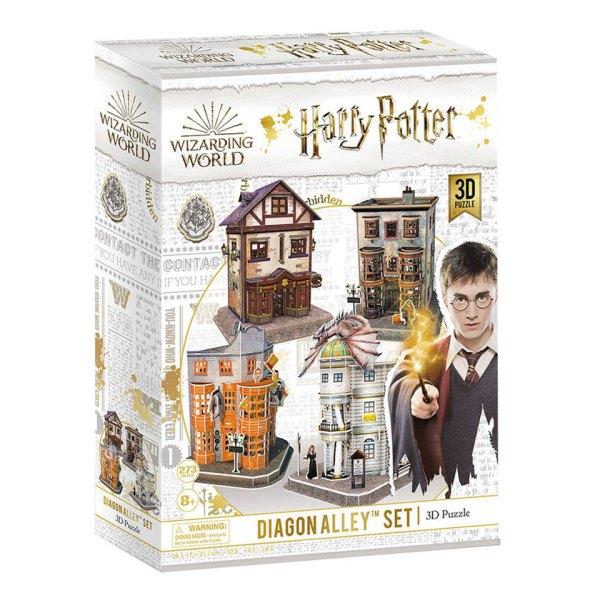 3D Puzzel van Diagon Alley Set uit Harry Potter Box