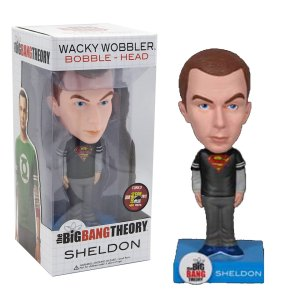 Funko Wacky Wobbler van Sheldon uit Big Bang Theory Superman Exclusive