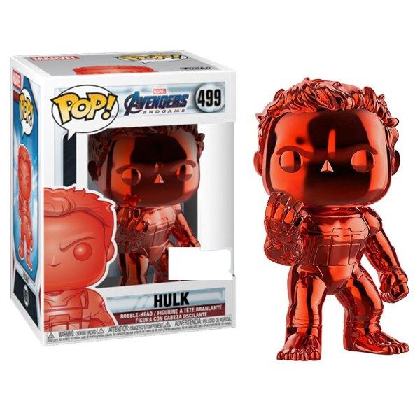 Funko Pop van Hulk(Red Chrome) uit Marvel Avengers 499
