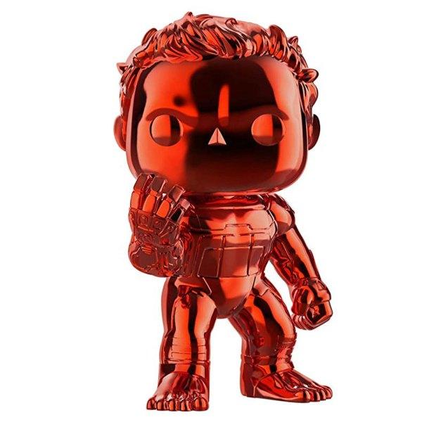 Funko Pop van Hulk(Red Chrome) uit Marvel Avengers 499 Unboxed